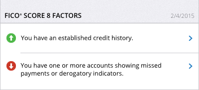 FICO® Score 8 Factors – FICO® Score 1B Report
