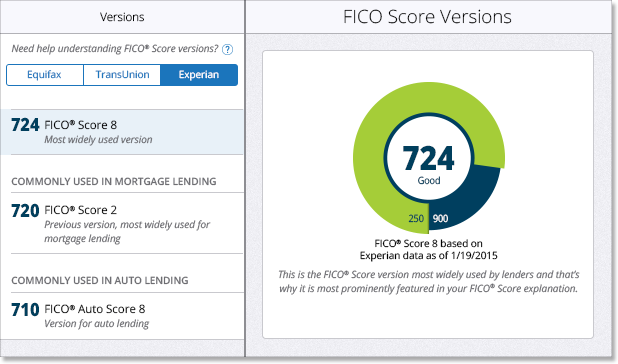 FICO Score Report Display