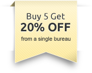 Buy 4 Get 1 FREE - Select 5 from a single credit bureau